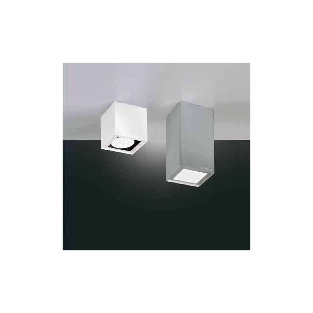 Faretti Cubo Soffitto Prezzi: Belfiore cubo corto in gesso bianco decorabile soffitto.